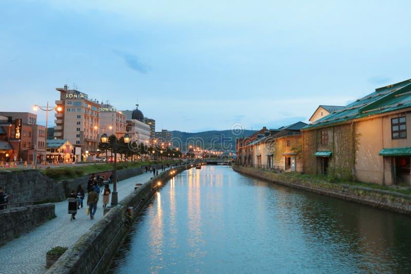 Canaux historiques d'Otaru à Otaru, Hokkaido, Japon photo stock