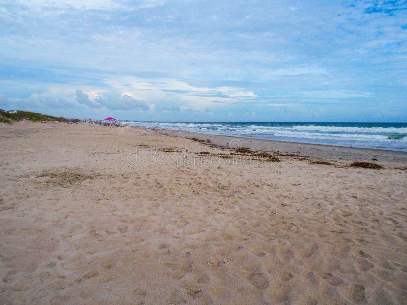 Canaveral National Seashore in Florida. Surf and sand at Canaveral National Seashore in Florida royalty free stock photos