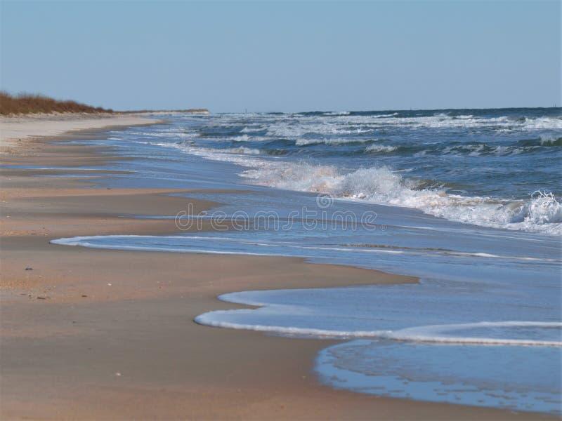 Canaveral National Seashore. Surf and sand at Canaveral National Seashore in Florida stock photo