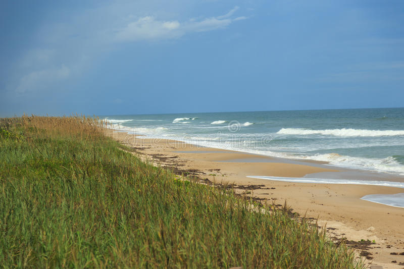 Canaveral National Seashore. Was created on January 3, 1975 by an act of Congress stock photo