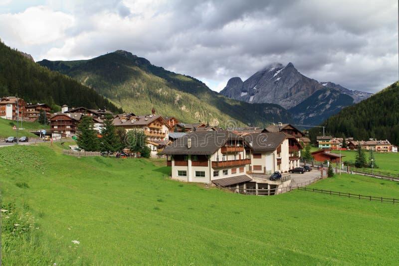 Canazei, Val di Fassa, Italie photo libre de droits