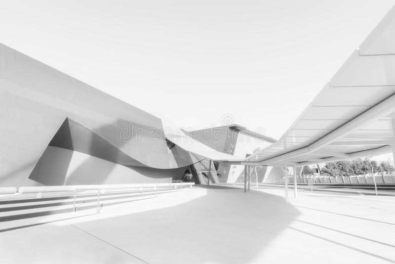 Canberra-Architektur-Kunst stockbilder