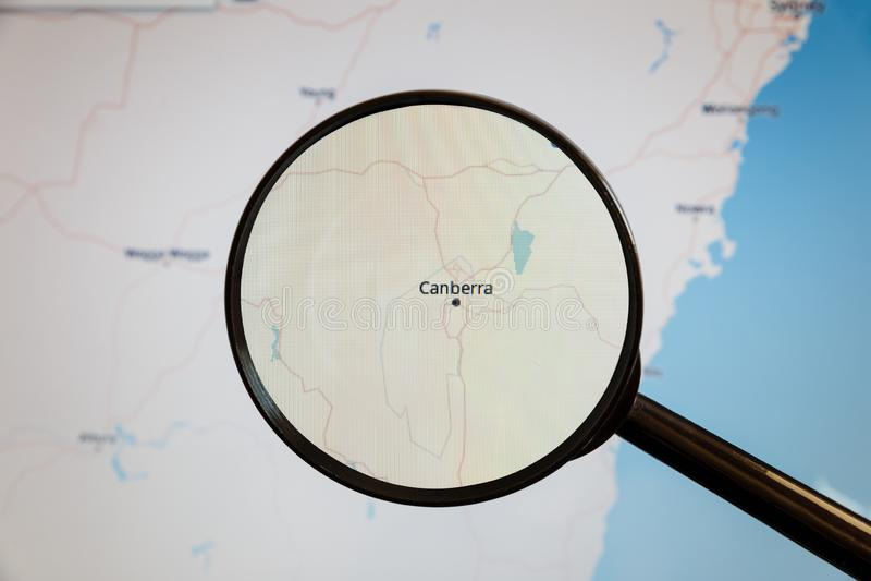 Canberra, Austr?lia mapa pol?tico imagem de stock