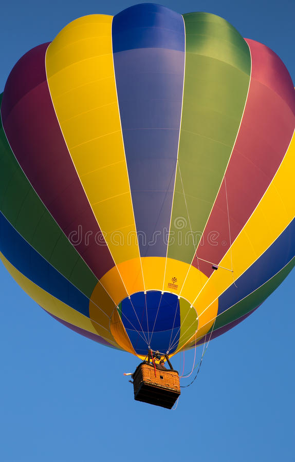 Canberra, Australië - Maart 8 2014: De Ballon Spectaculair Festival van Canberra stock foto