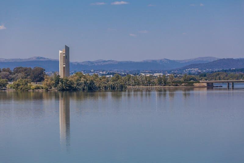 Canberra, Australia, carillón nacional fotos de archivo