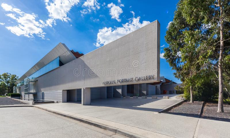 Canberra, Australia: National Portrait Gallery. Canberra, Australia - March 12, 2018: National Portrait Gallery Entrance royalty free stock image