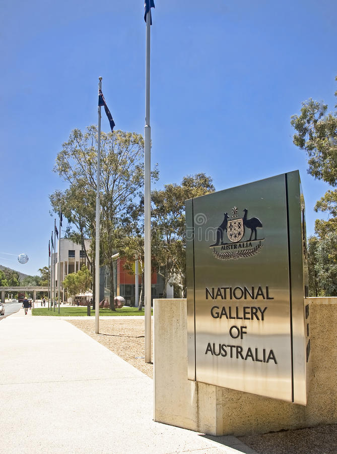 CANBERRA AUSTRALIEN - DECEMBER 18, 2014: National Gallery av Aus royaltyfria foton
