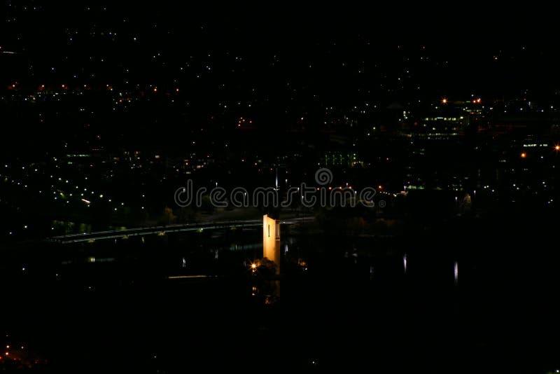 Canberra Carillion entro Night fotografia stock