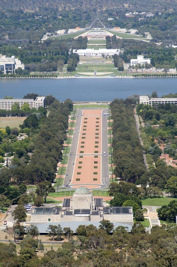 Canberra, die Hauptstadt von Australien lizenzfreie stockbilder