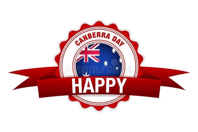 Canberra dzień w Australia wektorowy szczęśliwy świętowanie Australia mapa i flaga ilustracji