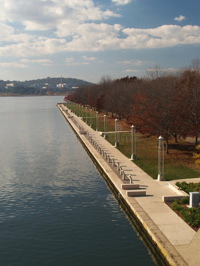 Canberra embankment royalty free stock images