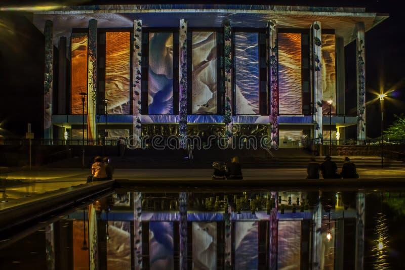 Canberra Enlighten Festival National Library stock images