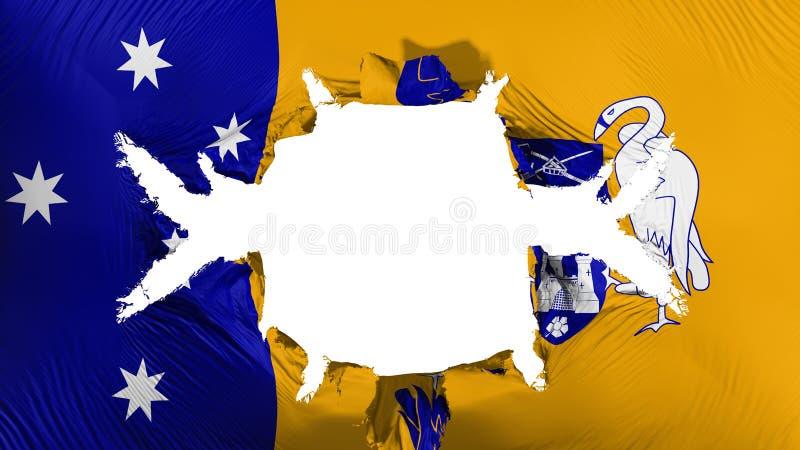 Canberra flaga z dużą dziurą ilustracja wektor