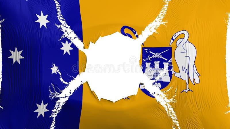Canberra flaga z dziurą ilustracja wektor