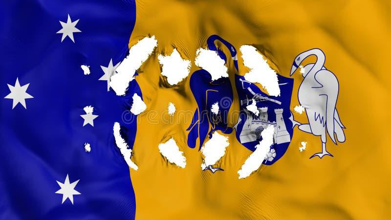 Canberra flaga z małe dziury ilustracji