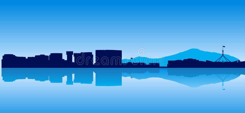 Canberra horisont stock illustrationer