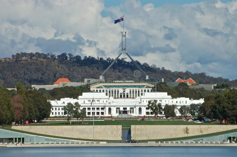 Canberra Parliament house royalty free stock photo