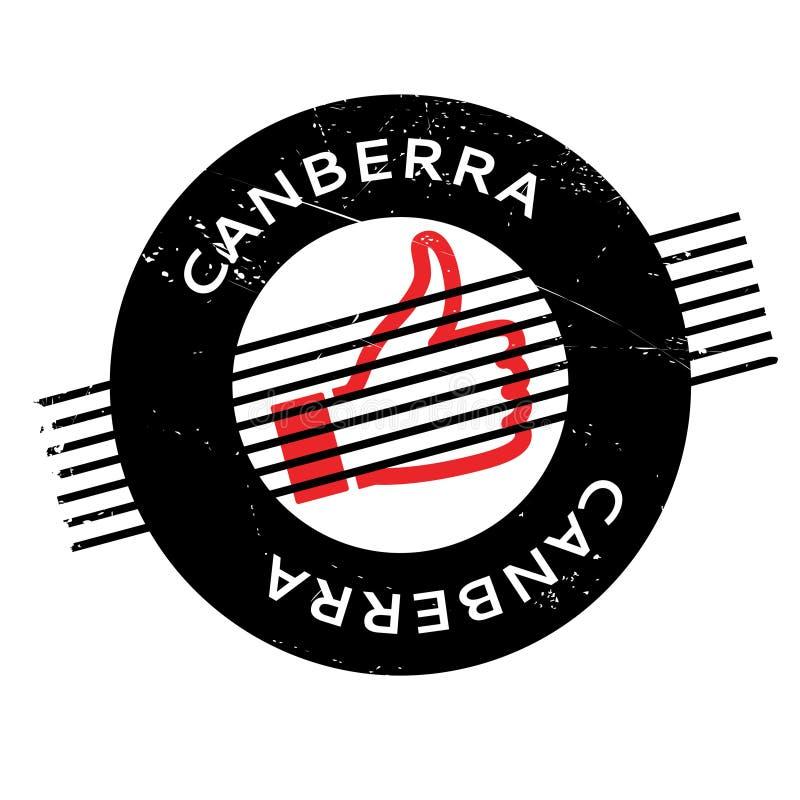 Canberra rubber stämpel vektor illustrationer