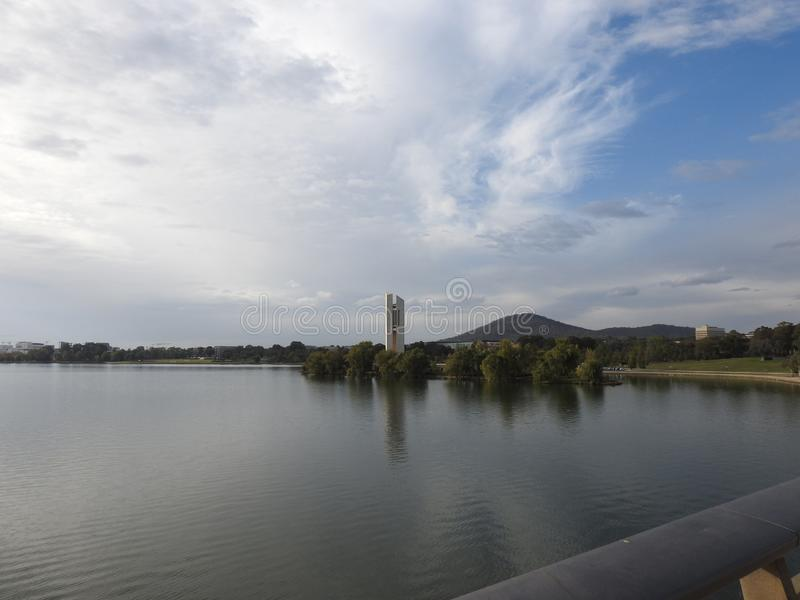Beautiful cities of Australia are Canberra and Sydney known for Griffin Lake, National Museum, Arts Gallery, Parliament royalty free stock photos