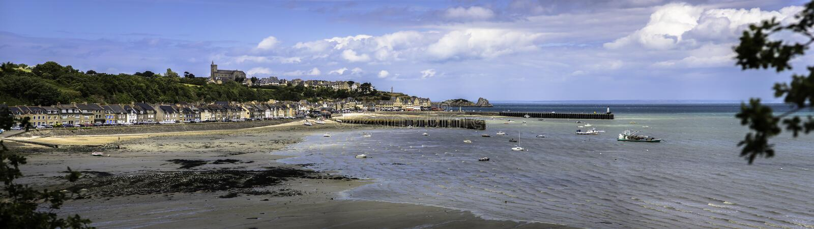 Cancale bay panorama stock image