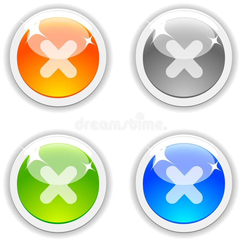 cancel кнопок иллюстрация вектора