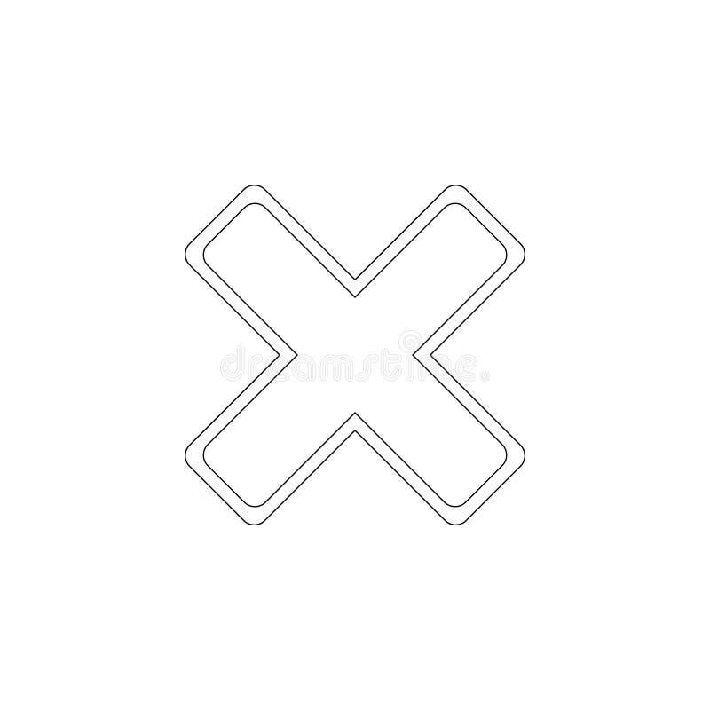 cancel плоский значок вектора бесплатная иллюстрация