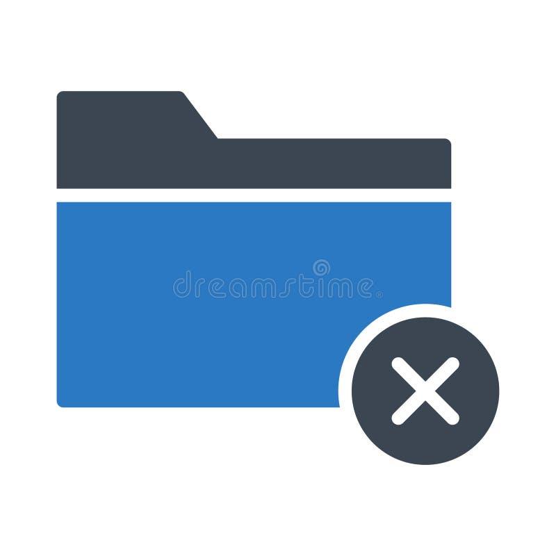Cancel folder glyph color vector icon vector illustration