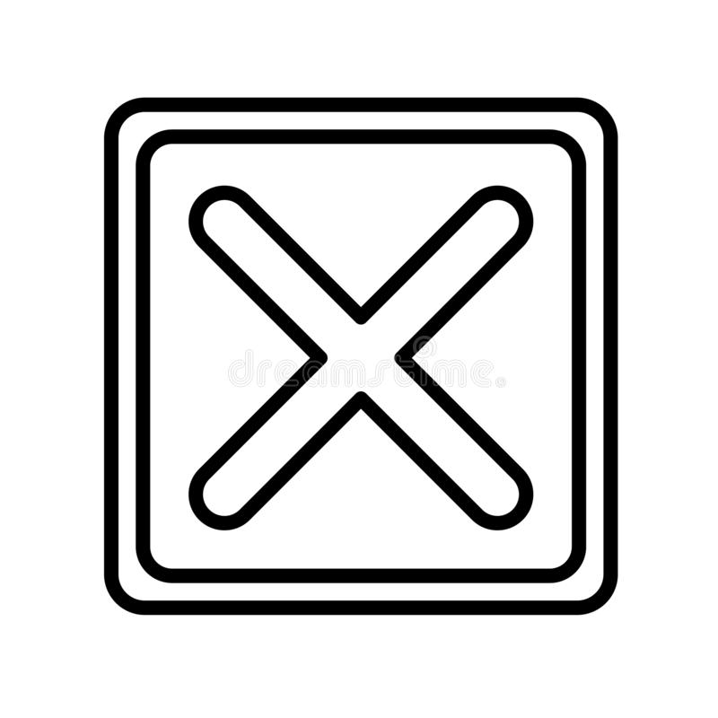 Cancel icon vector isolated on white background, Cancel sign , l. Cancel icon vector isolated on white background, Cancel transparent sign , line or linear stock illustration
