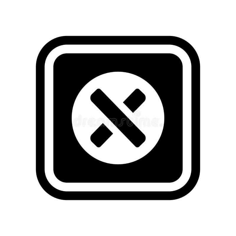 cancel ikona  ilustracja wektor
