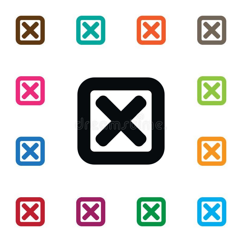 cancel ikona Zamknięty Wektorowy element Może Używać Dla Odwoływa, Zamyka, Mylny projekta pojęcie ilustracja wektor