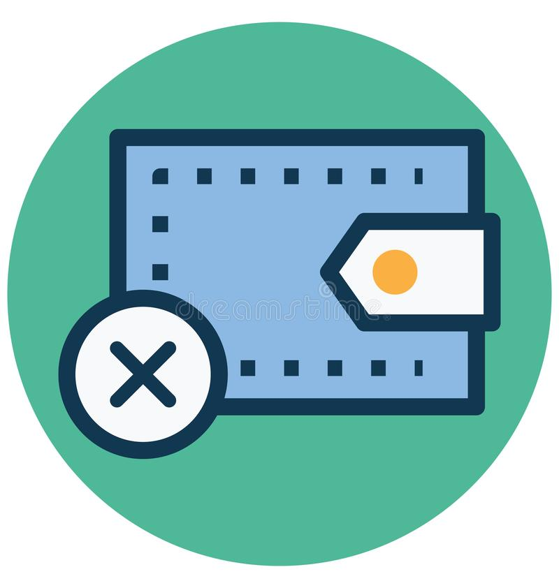 Cancel payment, Cross sign Isolated Vector Icon that can easily Modify or edit vector illustration