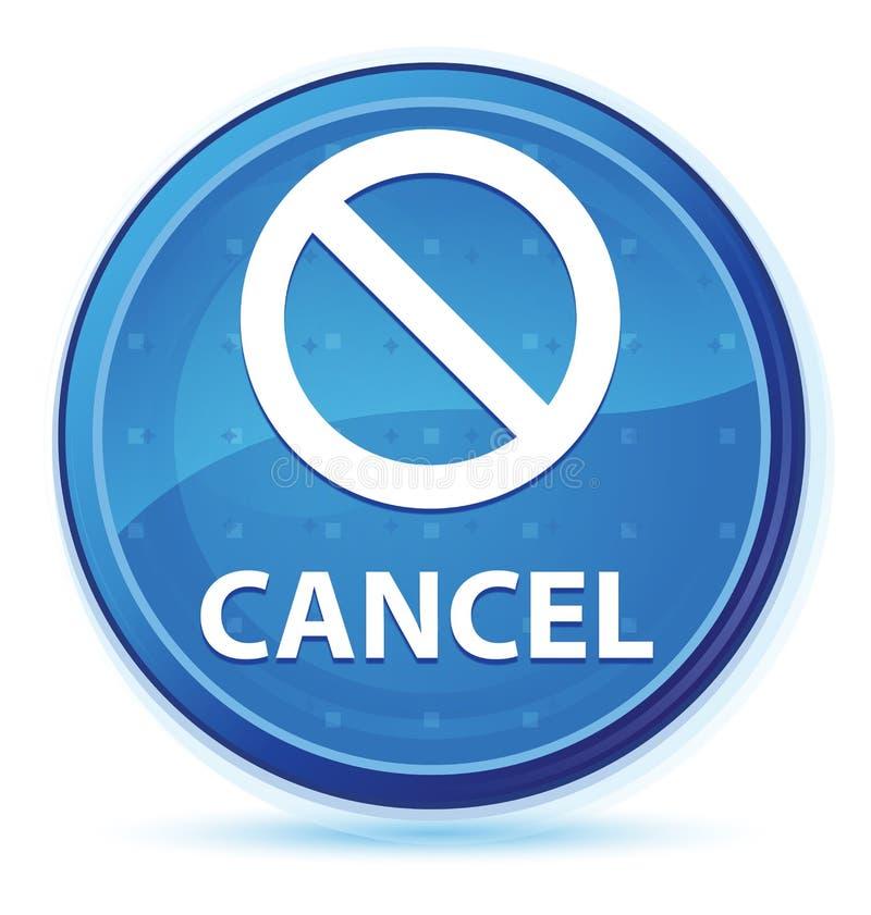 Cancel (prohibition sign icon) midnight blue prime round button. Cancel (prohibition sign icon) isolated on midnight blue prime round button abstract vector illustration