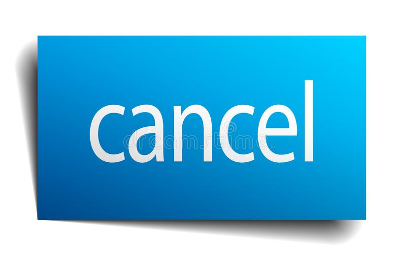 Cancel sign. Cancel square paper sign isolated on white background. cancel button. cancel vector illustration