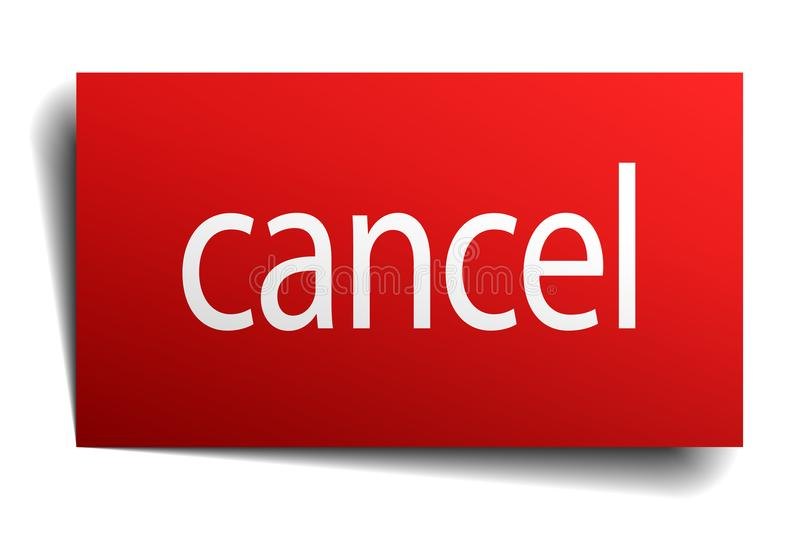Cancel sign. Cancel square paper sign isolated on white background. cancel button. cancel stock illustration