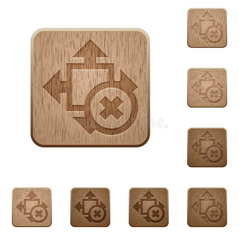Cancel size wooden buttons royalty free illustration
