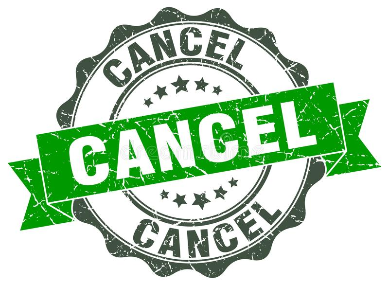 Cancel stamp. sign. seal. Cancel stamp. sign. round seal stock illustration