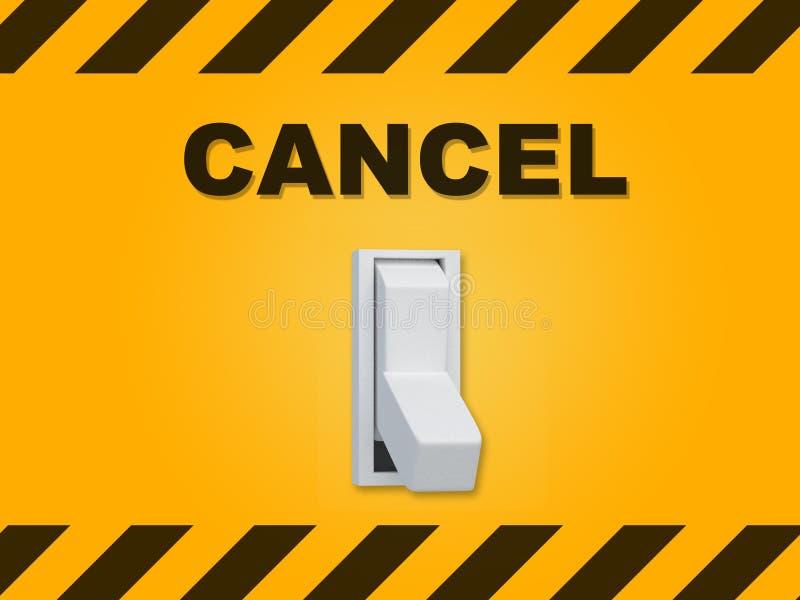 Cancelación - concepto circunstancial stock de ilustración