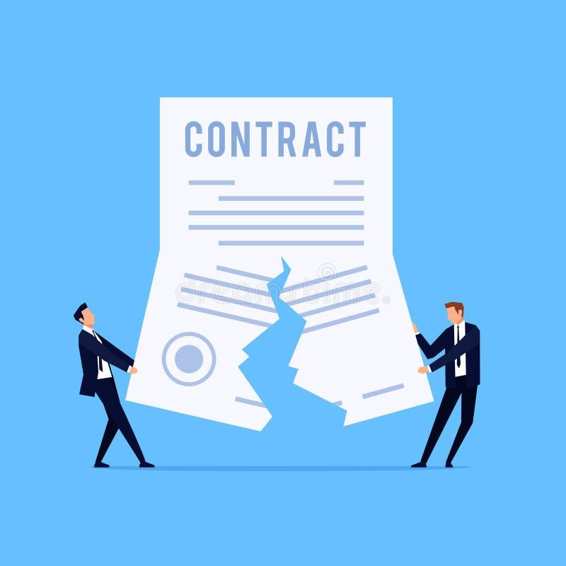 Cancelación de un contrato libre illustration