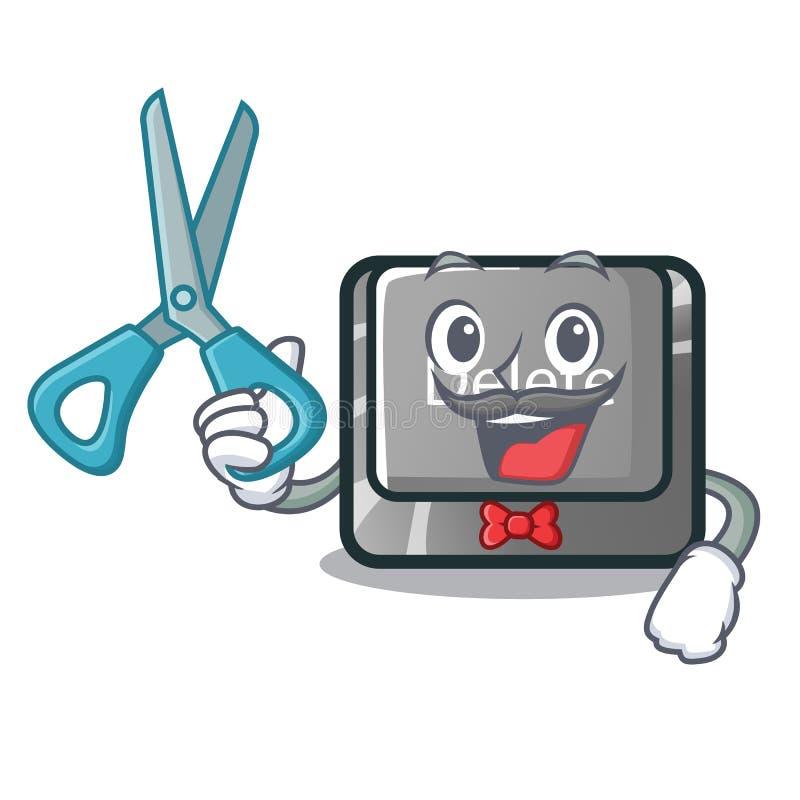 Cancelación del botón del peluquero aislada con el carácter libre illustration