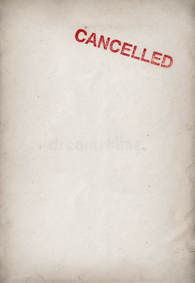 Cancelado foto de stock