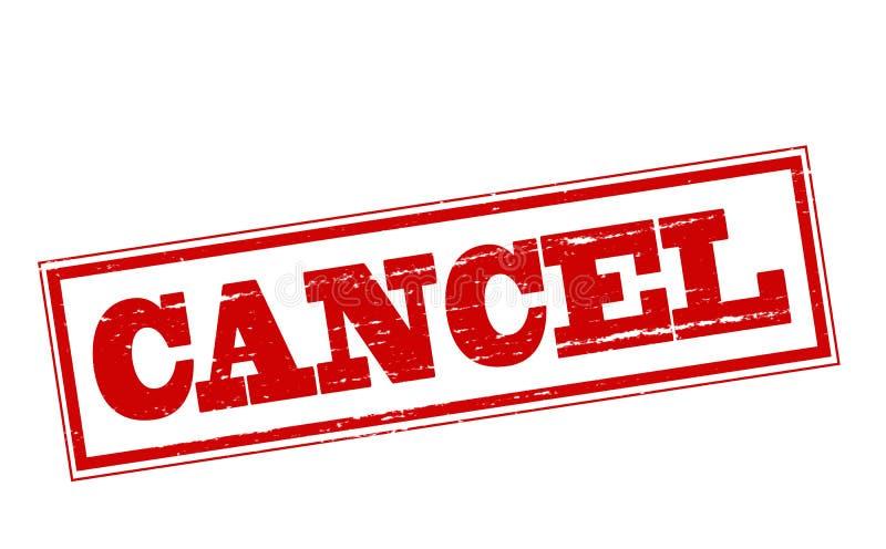 cancelamento ilustração royalty free