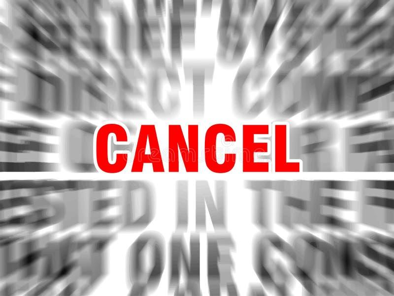 cancelamento ilustração stock
