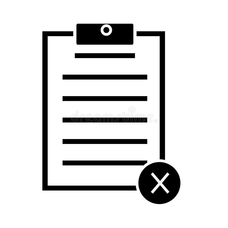 Cancele o ícone do formulário no fundo branco cancele o sinal do formulário ilustração do vetor