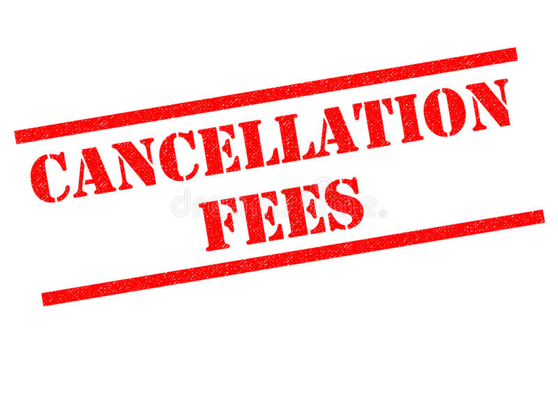 CANCELLATION FEES. Red Rubber Stamp over a white background vector illustration