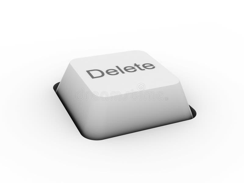 Cancellazione - tasto della tastiera immagine stock libera da diritti