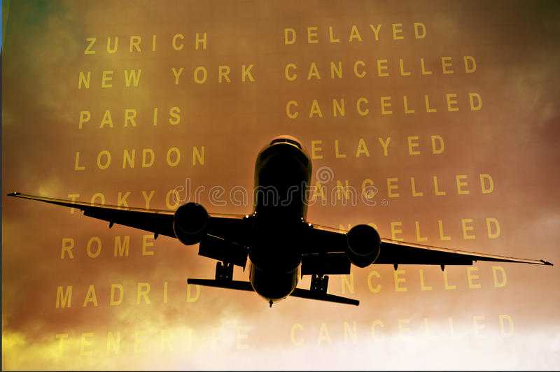 Cancelled flights royalty free stock image