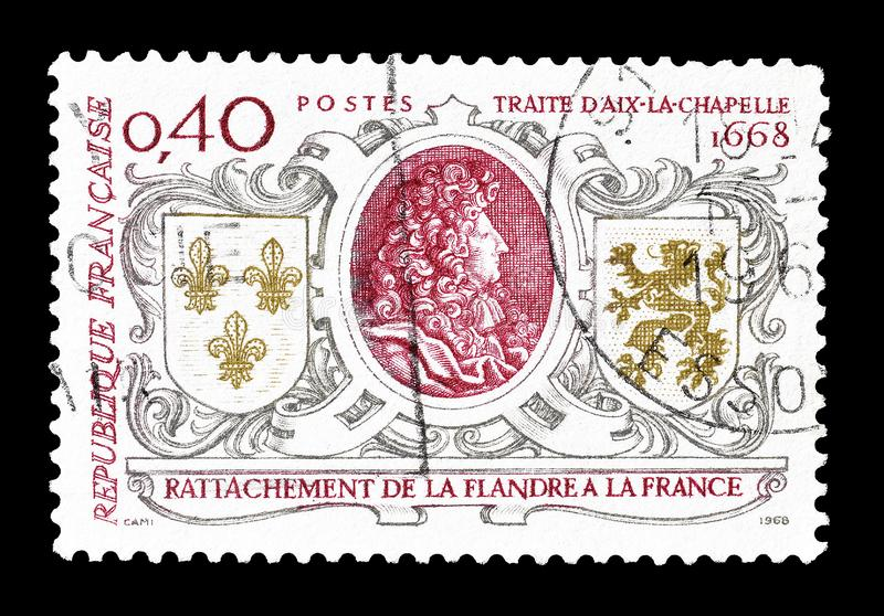 Postage stamp  printed by France stock images