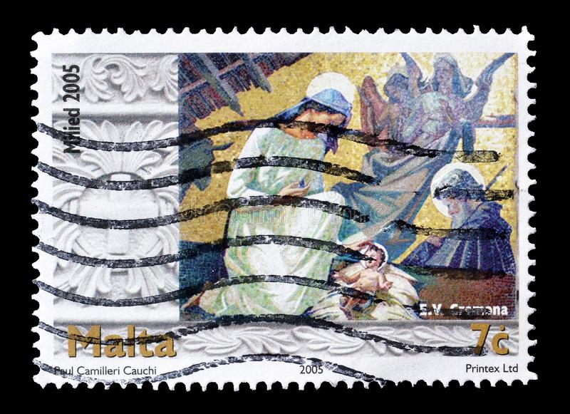 Postage stamp printed by Malta royalty free stock photography