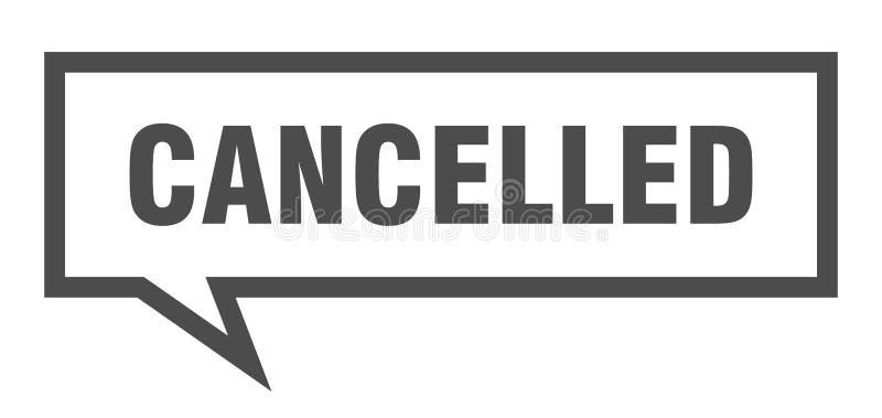 cancelled speech bubble. vector illustration