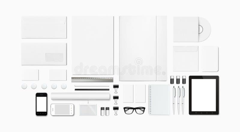 Cancelleria in bianco/modello corporativo di identificazione fotografia stock libera da diritti